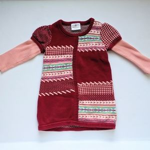 Hanna Andersson size 90 patchwork sweater dress
